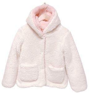 Me Jane Two Tone Plush Sherpa Girls Jacket